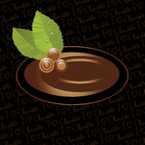 Chocolate candy label vector illustration
