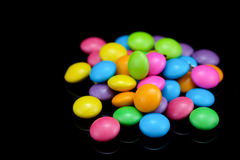 Chocolate candy in many colors Stock Image