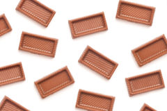 Chocolate candy pieces Royalty Free Stock Photos