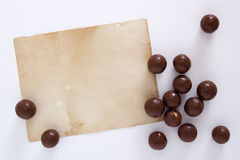 Chocolate candy round Royalty Free Stock Image