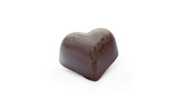 Chocolate candy in the  shape of heart Stock Photo