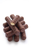 Chocolate candy with sweet cream Stock Photo