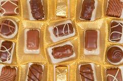 Chocolate candy, sweet dessert closeup, gift box. Background stock photos
