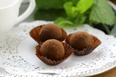 Chocolate candy  truffle Stock Photos