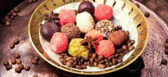 Chocolate candy, chocolate truffle Stock Photos