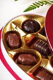 Chocolate candy for Valentines day Stock Photo