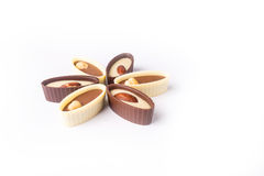 Chocolate candy on a white background Stock Photos