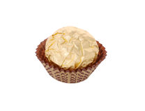 Chocolate candy wrapped in gold foil Royalty Free Stock Image