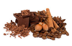 Chocolate, canela e avelã Foto de Stock