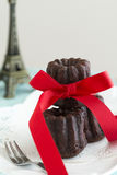 Chocolate cannele Stock Image