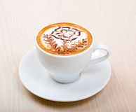 Chocolate  cappuccino time. Royalty Free Stock Photo