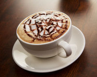 Chocolate cappuccino time.Cup of coffee Royalty Free Stock Photo