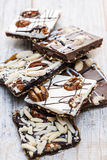 Chocolate caramel bark pieces Royalty Free Stock Photography