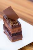 Chocolate and caramel cake Stock Photo