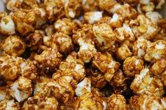 Chocolate caramel coated popcorn Stock Photos