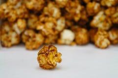 Chocolate caramel coated popcorn Stock Images