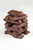 Chocolate and Caramel Cookie Bar 3 Stock Photo