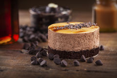 Chocolate,caramel mousse cake Royalty Free Stock Photography