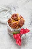 Chocolate Caramel Pecan Pretzel Bites Stock Photos