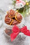 Chocolate Caramel Pecan Pretzel Bites Royalty Free Stock Images