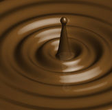Chocolate or Caramel Ripple Illustration Stock Images