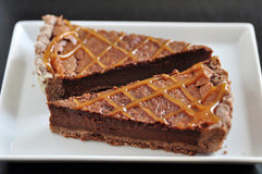 Chocolate Caramel Tarte Royalty Free Stock Photos