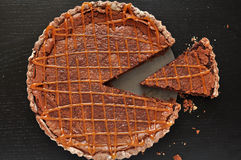 Chocolate Caramel Tarte Stock Image
