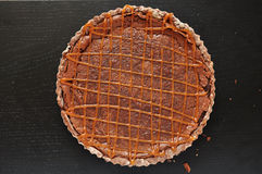 Chocolate Caramel Tarte Royalty Free Stock Photo