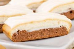 Chocolate, Caramel & Vanilla Cake Royalty Free Stock Photos