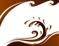 Chocolate card. Vector of card with chocolate wave Stock Images