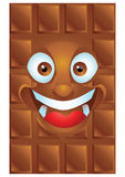 Chocolate cartoon character laughing Stock Photography