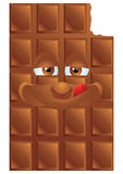 Chocolate cartoon character smiling Royalty Free Stock Photography