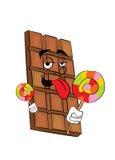 Chocolate cartoon Royalty Free Stock Images