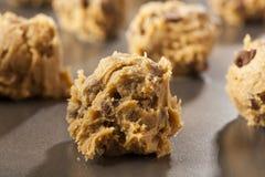 Chocolate caseiro Chip Cookie Dough fotografia de stock