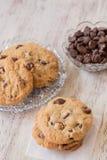 Chocolate caseiro Chip Cookies Dessert foto de stock