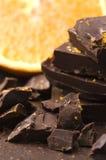 Chocolate caseiro com laranja Imagem de Stock Royalty Free