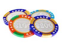 Chocolate casino chips Royalty Free Stock Image
