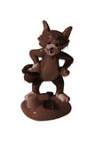Chocolate cat. Illustration. A cat is poured by a chocolate, couverture. Pastry good Royalty Free Stock Image