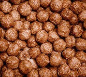 Chocolate cereal background Stock Photography