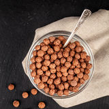 Chocolate cereal balls Royalty Free Stock Image