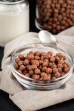 Chocolate cereal balls Stock Images