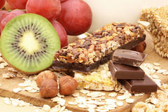 Chocolate cereal bar Royalty Free Stock Images