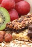 Chocolate cereal bar Stock Photos