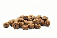 Chocolate cereal isolated. On a white background royalty free stock photo