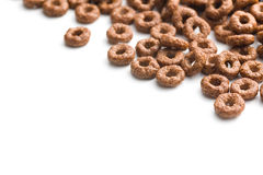 Chocolate cereal rings Royalty Free Stock Image