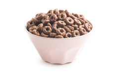 Chocolate cereal rings Stock Images