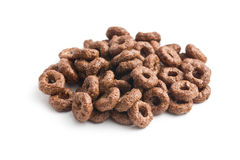 Chocolate cereal rings Royalty Free Stock Photo