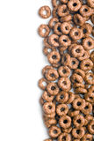 Chocolate cereal rings Royalty Free Stock Photos