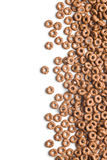 Chocolate cereal rings Royalty Free Stock Images