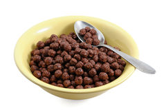 Chocolate cereals in bowl Stock Photos